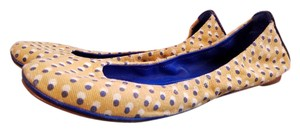 Tory Burch Leather Comfortable Canvas yellow and blue Flats