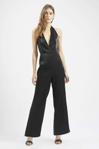 Topshop Jumpsuit Romper Halter Satin Dress