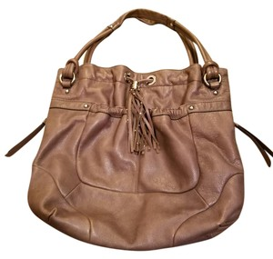 B. Makowsky Tassel Leather Studded Fall Hobo Bag