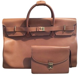 Gucci Birkin Travel Caramel Brown Travel Bag