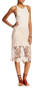Free People short dress Cream Lace Overlay on Tradesy