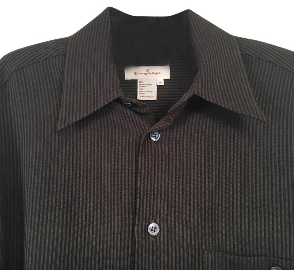 5542e12ee3 Ermenegildo Zegna Men's Long Sleeved Shirt Medium. Button-down Top Size 10  (M)