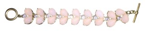 Anthropologie Adorable blush and rhinestone bracelet!