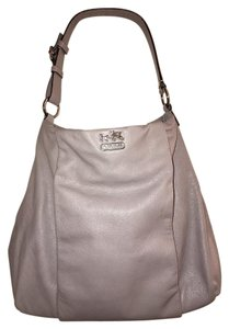 Coach Soft Leather Front Zip Pocket Shoulder Bag