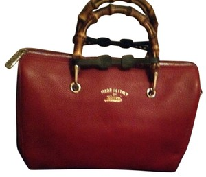 Gucci Bamboo Boston Satchel in Red