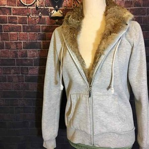 Juicy Couture Juicy couture fur - lined hoodie size large