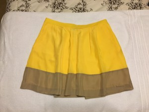 J.Crew A-line Pockets Pleated Skirt Yellow