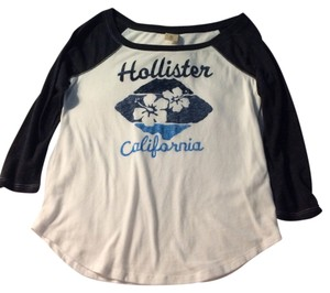 Hollister T Shirt White And Gray