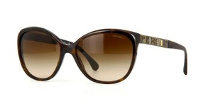 Chanel NEW Chanel Bijou Cat Eye Brown Crystal Sunglasses