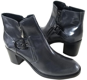 Aquatalia by Marvin K. Ankle Bootie Gunmetal Zippers Grey Boots