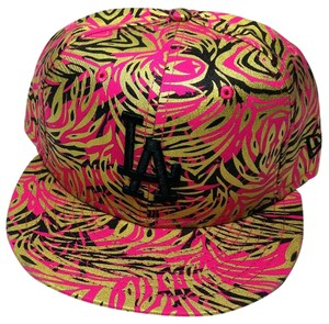 New Era Los Angeles Dodgers LA New Era Floral Black Gold Pink Snapback Hat