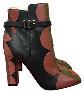 Valentino Polka Dot Leather Zip Multicolor Boots