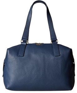 Fossil Satchel in Blue