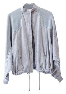 T by Alexander Wang Mesh Designer Heather Grey Jacket