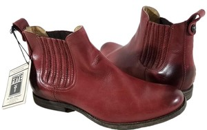 Frye Round Toe Soft Vintage Burnt Red Boots