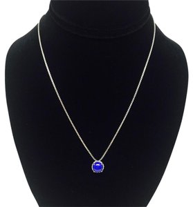 David Yurman Chatelaine Pendant Necklace Lapis Lazuli - Gorgeous!