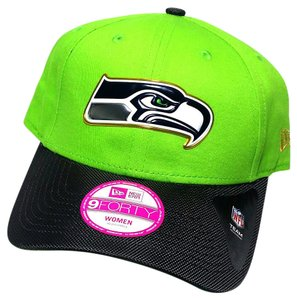 New Era Seattle Seahawks New Era Women Gold Collection Lime Green Gray Hat Cap