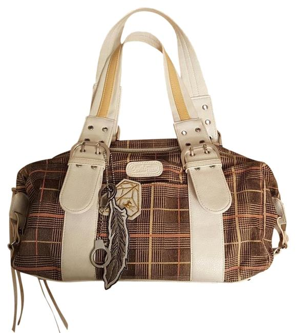 Item - With Charms Plaid Multi Velour Satchel