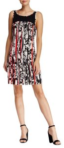 Tart short dress black, red, white Red Sleeveless Abstract Print on Tradesy