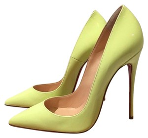 Christian Louboutin Neon Yellow Green Pumps