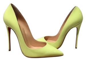 Christian Louboutin So Kate Patent So Kate So Kate Size 37 Neon Yellow Green Pumps