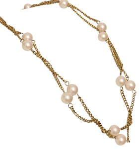 Sarah Coventry Gold Tone Faux Pearl Vintage Sarah Coventry Necklace