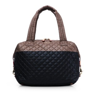 MZ Wallace Large Sutton Nylon Tote in Fawn and Black