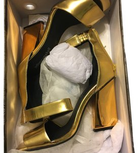 Jeffrey Campbell Gold Pumps