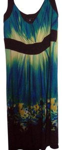 Tiana B. short dress black, green, blue and yellow Bright on Tradesy