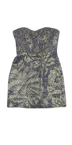 MILLY short dress Metallic Spotted Wool on Tradesy