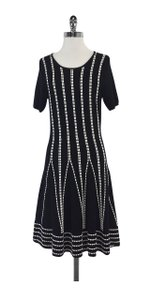 Shoshanna short dress Black White Stitched on Tradesy
