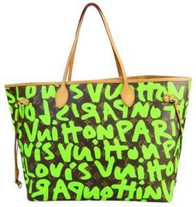 Louis Vuitton Lv Graffiti Neverfull Gm Shoulder Bag