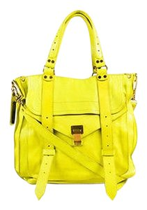 Proenza Schouler Proenza Green Leather Double Handle Ps1 Tote in Yellow