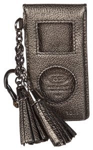 Tod's Tod's Metallic Pewter Leather iPod Keychain Holder