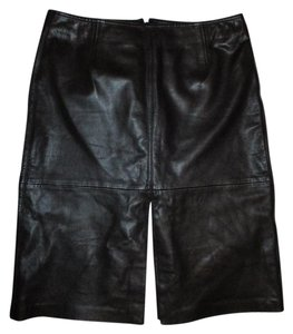Cache Leather Lambskin Skirt black