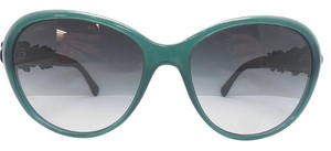 Chanel Chanel Sunglasses 5316-Q Emerald Green Floral Leather Gradient