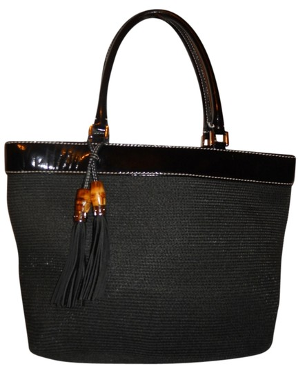 Preload https://img-static.tradesy.com/item/2014948/talbots-patent-black-textile-with-leather-trim-tote-0-0-540-540.jpg