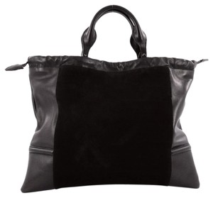 Burberry Nubuck&leather Tote in Black