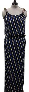 black blue and white Maxi Dress by Michael Kors