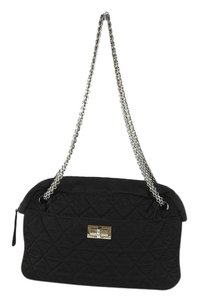 Chanel Reissue Camera Quilted Silver Black Shoulder Bag
