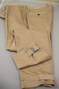 Gucci Beige W Men's Casual Pants Skinny W/ Buckle 54/ Us 38 255303 Groomsman Gift