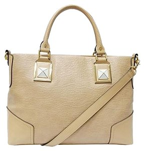 Kardashian Kollection Pebbled Studs Spring Nude Discontinued Satchel in Tan