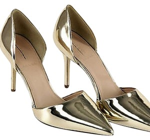J.Crew Metallic Gold Pumps