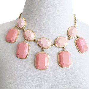 J.Crew Karma Two-tone Pink Bauble Geometric Tiered Statement Necklace