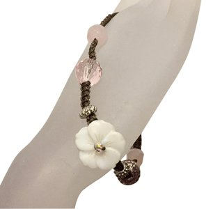 Cookie Lee Cookie Lee Adjustable String Floral Bracelet