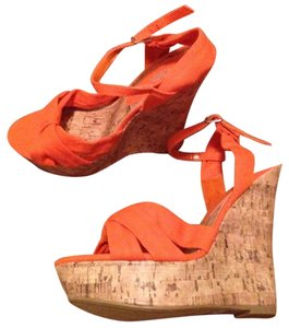 Charlotte Russe Spring Orange Wedges
