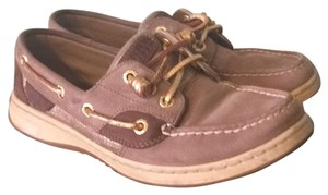 Sperry Brown, gold, tan Flats