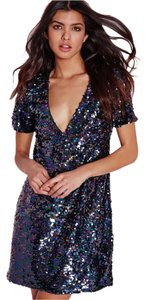Missguided Sequin Shift Party Dress