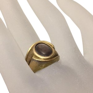 Varga Vargas Art Deco Gold Filled 10k Mother Of Pearl Bezel Set Ring