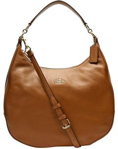 Coach Pebbled Leather Harley Crossbody Hobo Bag